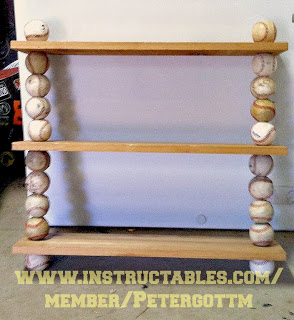 Create You Own Baseball Shelf Using Old Balls