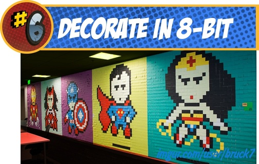 Super Hero Decor using Post-It Notes