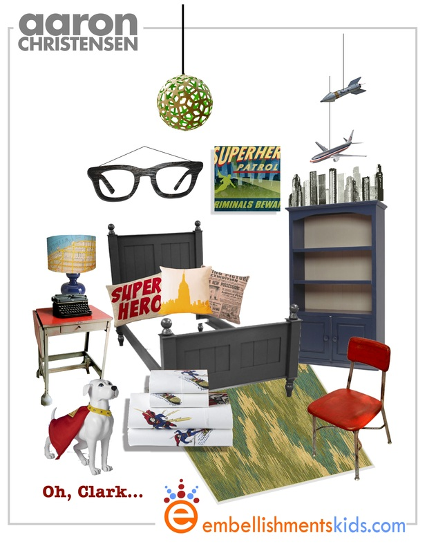 Superhero decor ideas Clark Kent