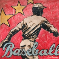 Baseball Star Player Wall Art Print Canvas Decor