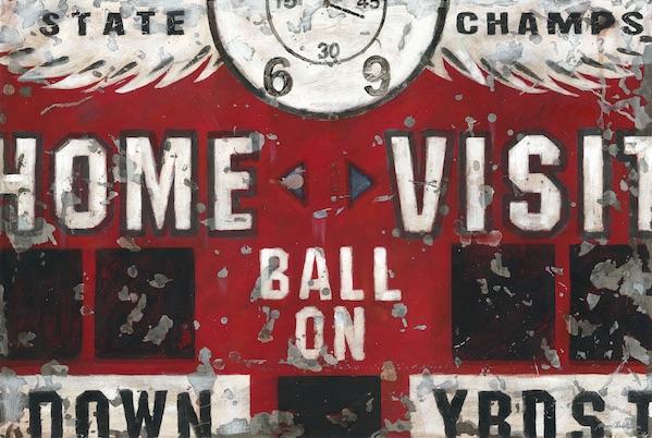 Shop Scoreboard Football Vintage Wall Art for Boys Rooms
