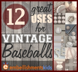 Make things, crafts, decor out of vintage baseballs