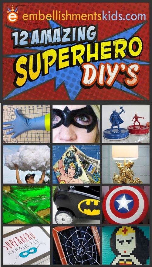 12 Amazing Superhero DIY projects decor and craft ideas