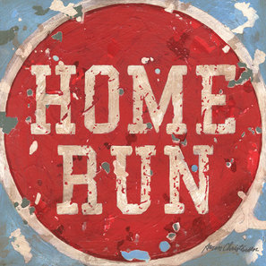 Home Run Baseball Sports Wall Art Decor Canvas & Print