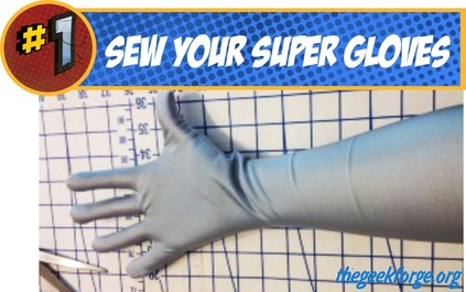 Super Hero Costume Gloves DIY