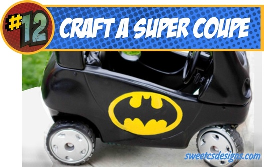 Batmobile Cozy Coupe DIY