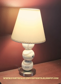Make a Baseball Lamp DIY