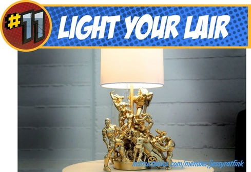 DIY Superhero Action Figure Lamp