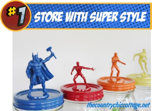Mason Jar Superhero storage