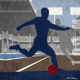 Vintage Modern Soccer Sports Art Decor, 100 miters soccer