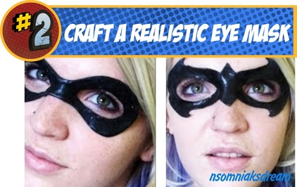 Superhero Latex Eye Mask Make up