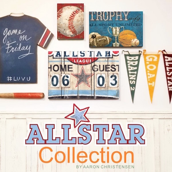 Allstar Sports Wall Art and Decor Collection for the nursery, boys and teens rooms by Aaron Christensen