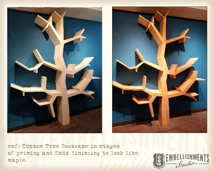 Tree Shaped Book Case, Book Shelves shaped like branches for children by Aaron Christensen