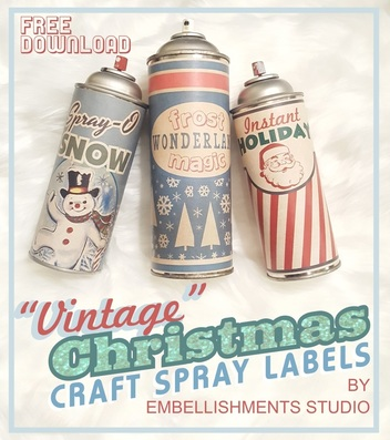 Holiday Crafts Spray Vintage Style Label Download by Aaron Christensen