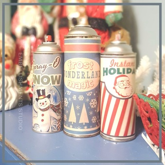 Holiday Memorabilia - Vintage Look Christmas Decoration Spray Free Download by Aaron Christensen