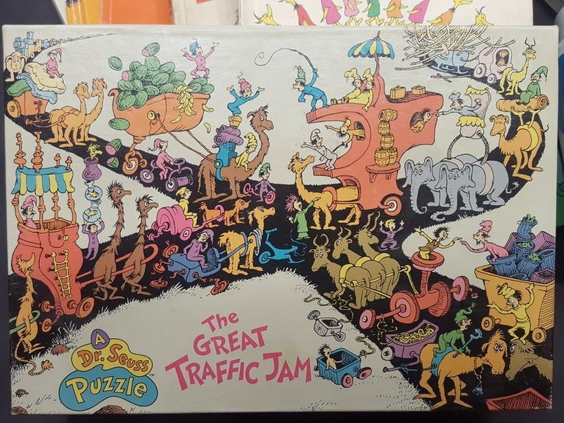 Dr. Seuss the Great Traffic Jam puzzle