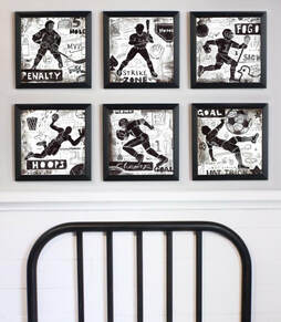 Framed Sports Wall Art