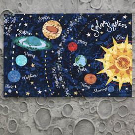 Outer space art for boys rooms