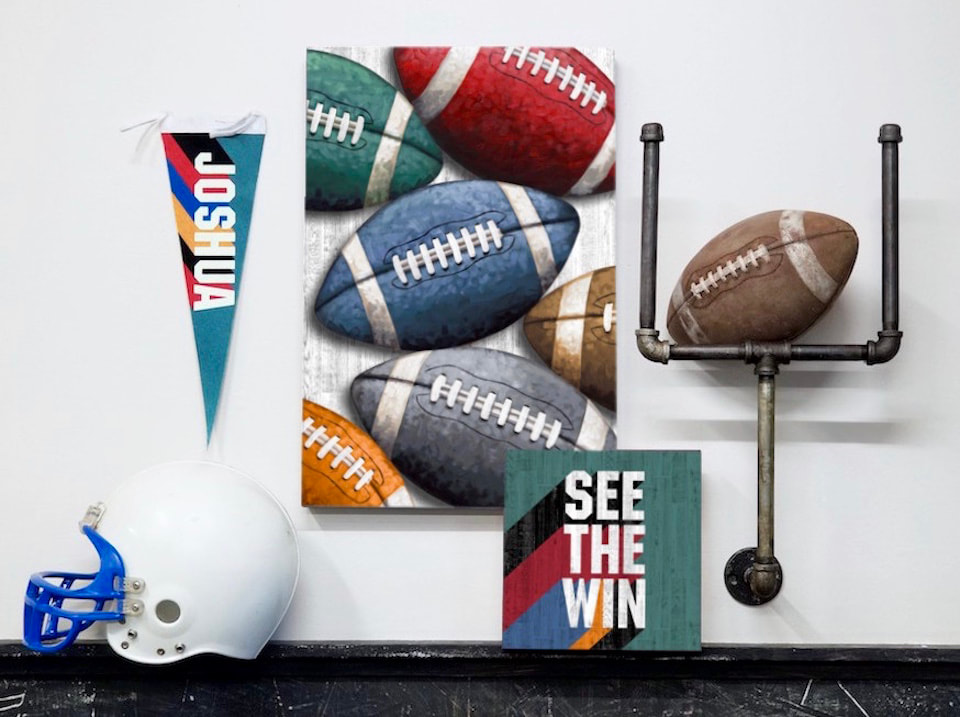 Football Wall Art and Decor for Boys Rooms and the Nursery by Aaron Christensen Embellishmentsstudio.com