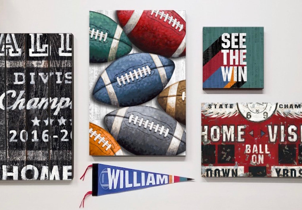 Football Decor and Wall Art Collection - Blitz by Aaron Christensen