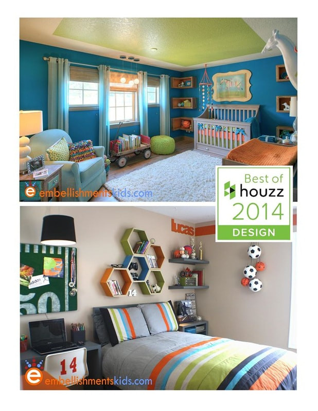 Gender Neutral Colorful Nursery and Teen Sports Bedroom