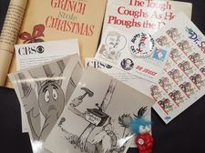 Dr. Seuss Press Photos, Stamps, Books, the Grinch who Stole Christmas edition