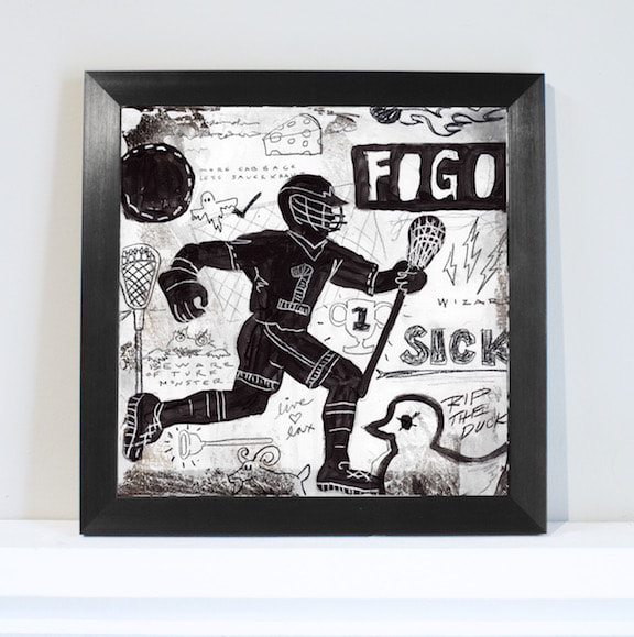Lacrosse Sports Wall Art Decor for Boys and Teens