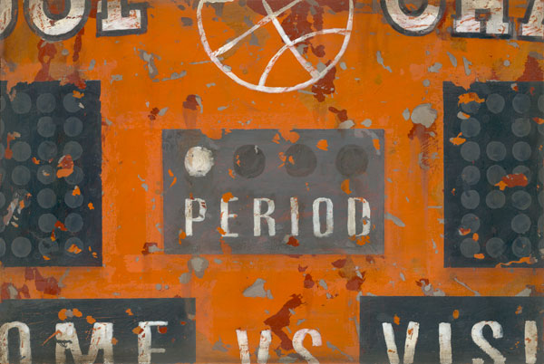 Vintage Sports Scoreboard Basketball Wall Art for boys, teens and home.