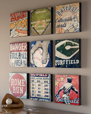 Throw the ball Baseball Sports Wall Art Decor