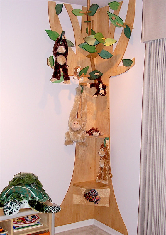 Corner Tree Shelf