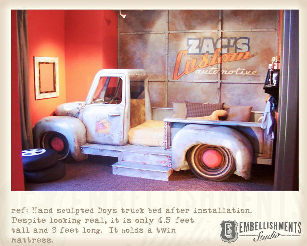Boys Room Twin Truck Bed Created By Embellishments Studio - Prop Maker and Kids Room Designer