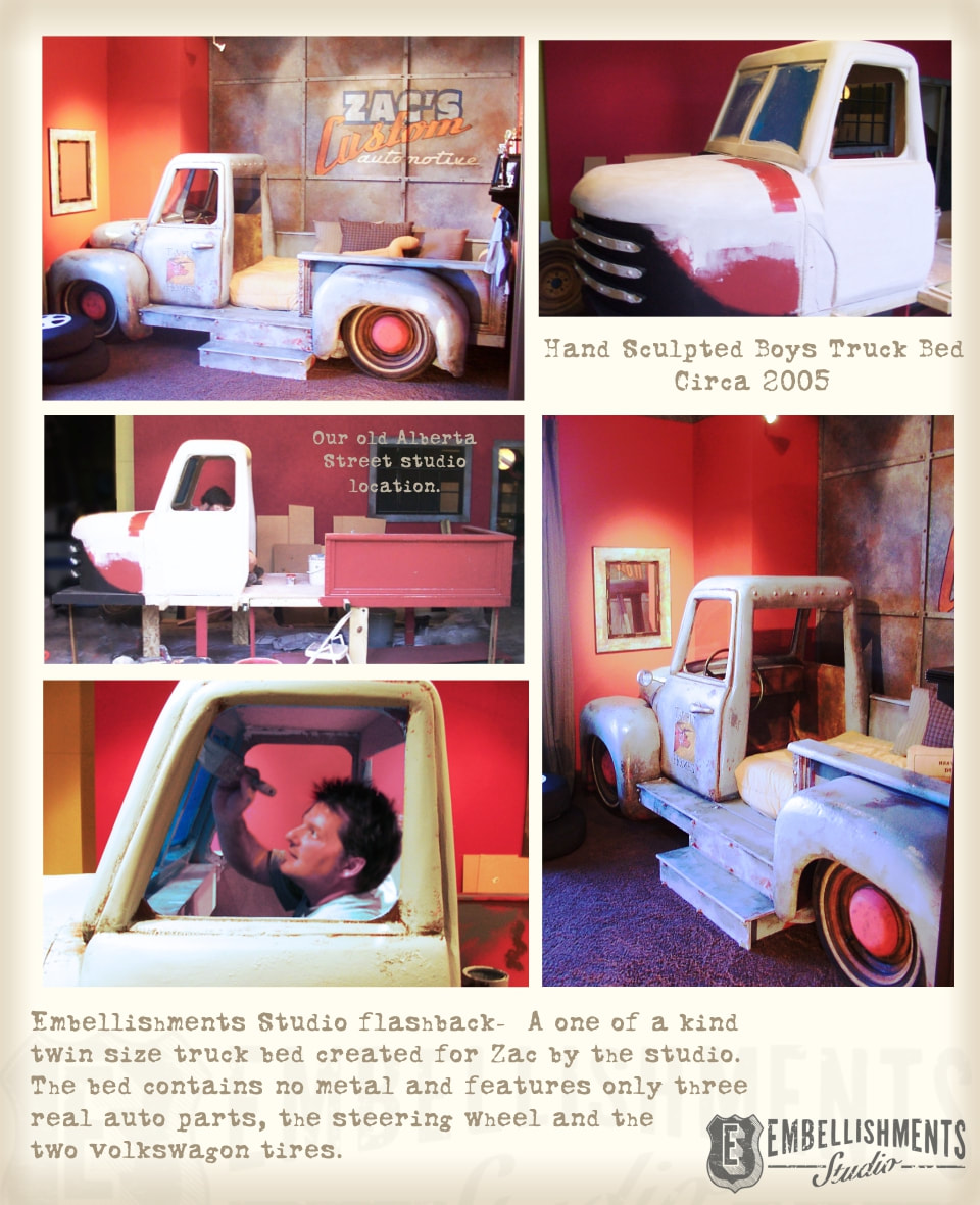 What an Idea!  A Custom Kids Room Truck Bed.