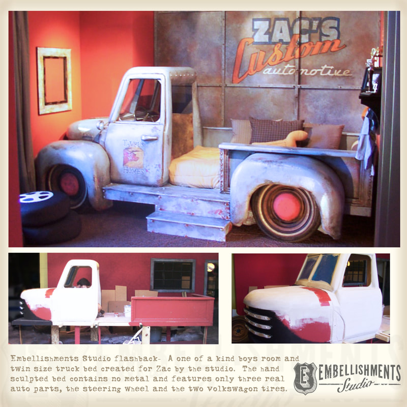 Custom Studio Faux Truck, Used As A Boys Bed
