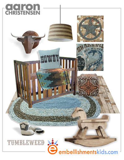 How to design a cowboy nursery- Start with western wall art decor by Aaron Christensen.
